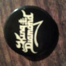 KING DIAMOND PINBACK BUTTON  logo mercyful fate VINTAGE