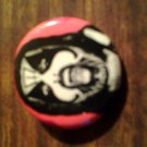KING DIAMOND PINBACK BUTTON red face mercyful fate VINTAGE