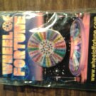 WHEEL OF FORTUNE flasher button pin badge magnetic PROMO MOC