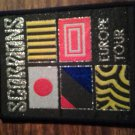 SCORPIONS sew-on PATCH Europe Tour flags VINTAGE