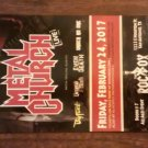 CONCERT FLYER METAL CHURCH OVERKILL NILE Byfist san antonio texas 2017 SALE