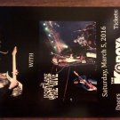 CONCERT FLYER ULI JON ROTH Jason Kane & the Jive scorpions san antonio texas 2016