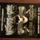 CONCERT FLYER WIZARDS OF GORE Rigor Mortis decimate bruce corbitt san antonio texas 2016 SALE