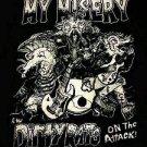 MY MISERY SHIRT dirty rats texas punk rock band gokart NEW XL