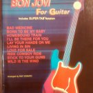 BON JOVI SONGBOOK Best Of For Guitar super-tab song book tablature jon NEW SALE