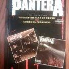 PANTERA SONGBOOK vulgar display of power cowboys from hell song book guitar tablature NEW TAB