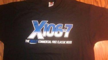 X 106.7 SHIRT the eagle most classic rock radio Texas promo NEW XL