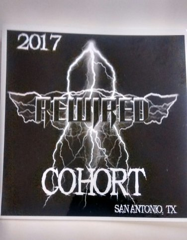 REWIRED STICKER 2017 Cohort logo texas rock metal band PROMO SALE