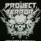 PROJECT TERROR SHIRT I was born a hellraiser heavy metal rock band texas black NEW XL