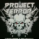 PROJECT TERROR SHIRT I was born a hellraiser heavy metal rock band texas black NEW L
