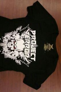 PROJECT TERROR SHIRT I was born a hellraiser metal rock band texas ladies shortie sleeve NEW M