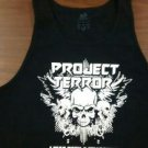 PROJECT TERROR SHIRT I was born a hellraiser heavy metal rock band texas black NEW XL TANK