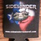 SIDEWINDER COOZIE snake logo Texas rock band koozie