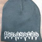 ISOLAYDEAD HAT white logo knit beanie one size Texas Metal NEW