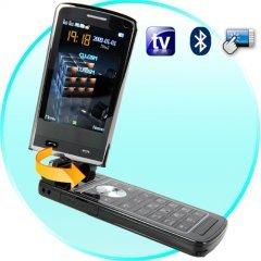 Quad Band Touchscreen Flip-Phone w/ Dual SIM, TV, Acceleromete