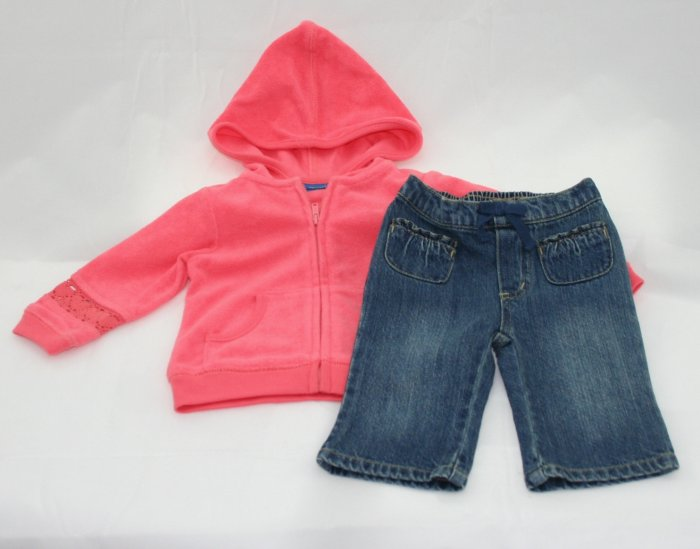 SUGAR CORAL 2 Pc Outfit 3-6 Months NEW Green Dog