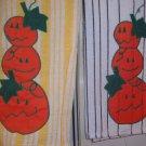 Stacked Pumpkins Appliqued Kitchen Towel