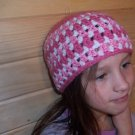 Child's Striped Hat - Shades of Pink