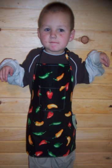 Chili Peppers Child's Chef Apron