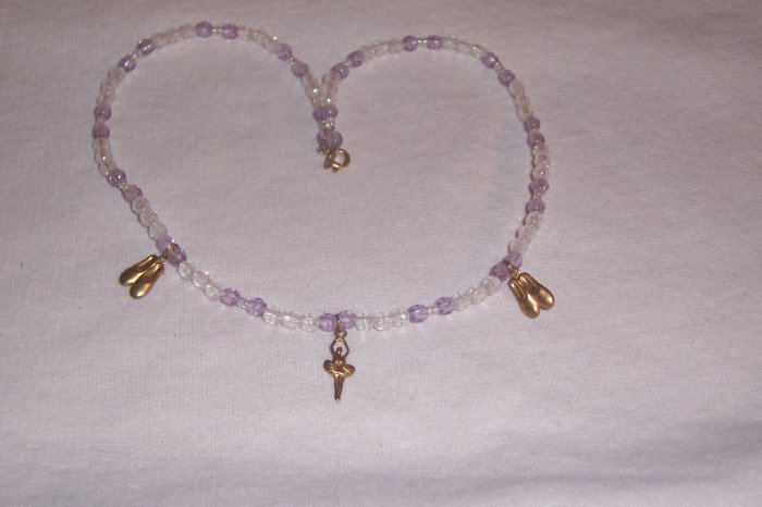 Ballerina Necklace - Purple and Clear