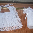 Heirloom Quality Baby Bib and Bottle Cover Set