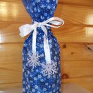 Wine Bottle Bag - Snowflakes