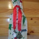 Wine Bottle Bag - Snowmen