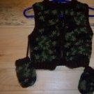 Infant Hunter's Vest & Mittens (6 mos.)