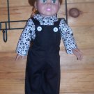2-pc Overalls and Blouse Set