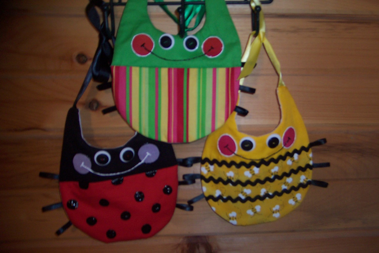 3-Pc Bug Baby Bib Set