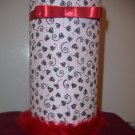 Hairband Holder (Blk & White with Red Trim)