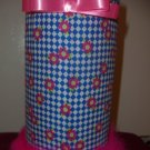 Hairband Holder (Blue & White with Fuscia Flowers)