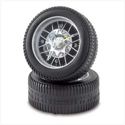 38442 Racing Tire Alarm Clock