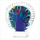 38982 Art Glass Peacock
