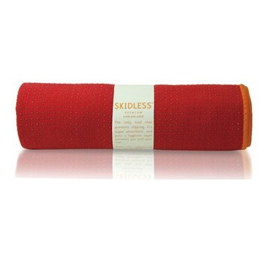 yogitoes SKIDLESS mat towel - red