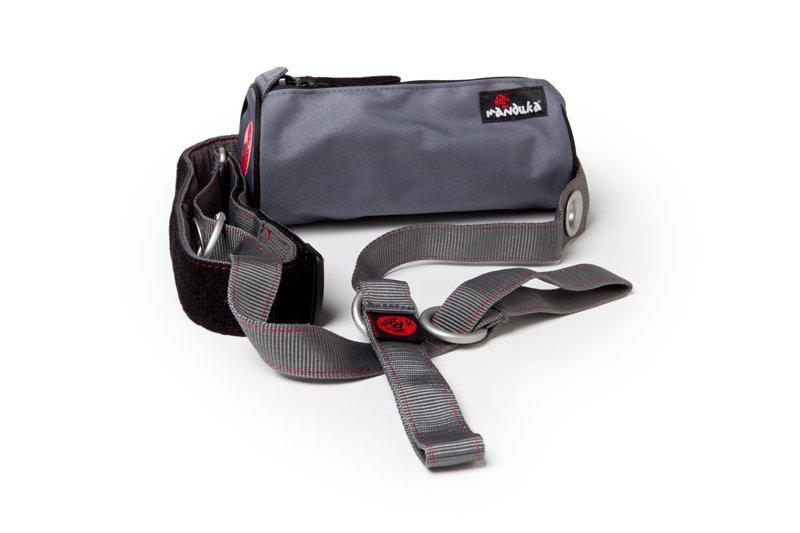 Manduka mat sling GRAY yoga mat carrier with accessory pouch bag