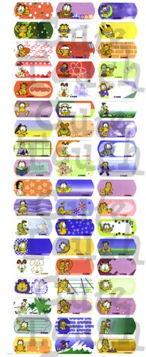 Name Labels Stickers- Garfield Series