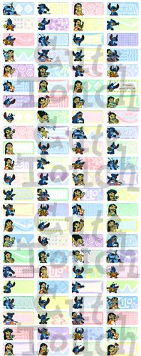 Name Labels Stickers- Lilo & Stitch Series