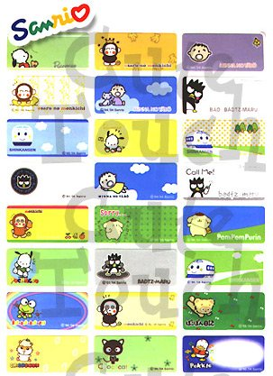 Name Labels Stickers- Sanrio Crew Series