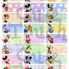 Name Labels Stickers- Micky, Minnie & Friends Series