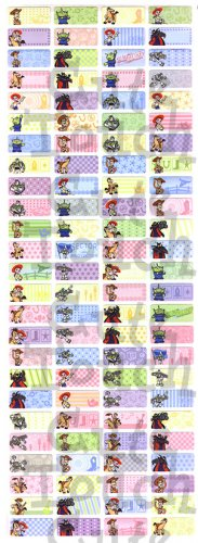 Name Labels Stickers- Toy Story Series