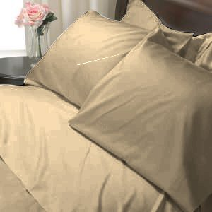 100%Egyptian Cotton Color Camel 600TC Twin Solid Sheet Set