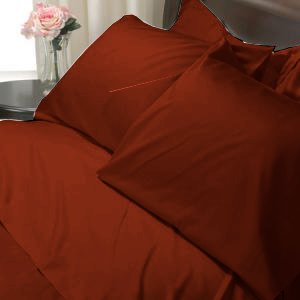 100%Egyptian Cotton Color Cardinal 600TC Twin Solid Sheet Set