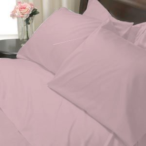100%Egyptian Cotton Color Musty Rose 600TC Twin Solid Sheet Set