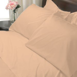 100%Egyptian Cotton Color Peach 600TC Twin Solid Sheet Set