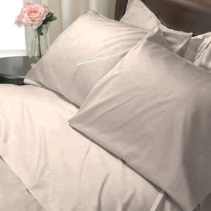 100%Egyptian Cotton Color Taupe 600TC Twin Solid Sheet Set