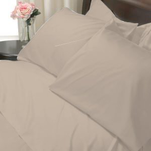 100%Egyptian Cotton Color Walnut 600TC Twin Solid Sheet Set