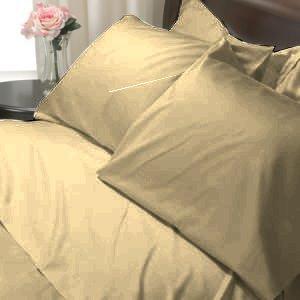 100%Egyptian Cotton Color  Beige 1200TC Queen Solid Sheet Set