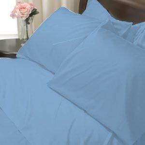 100%Egyptian Cotton Color  Blue 1200TC Queen Solid Sheet Set