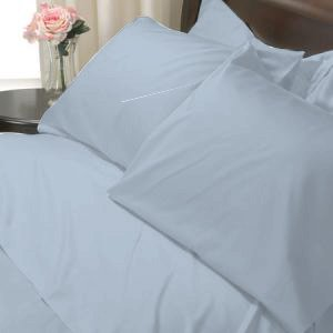 100%Egyptian Cotton Color  Bright Sky 1200TC Queen Solid Sheet Set